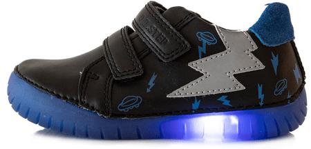 D-D-step buty całoroczne chłopięce 050-10B 25 czarne