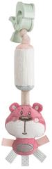 Canpol babies pluszowa zabawka z dzwoneczkiem i klipsem Pastel Friends - różowy niedźwiadek