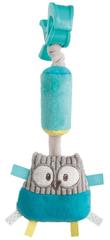 Canpol babies pluszowa zabawka z dzwoneczkiem i klipsem Pastel Friends - turkusowa sowa