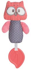 Canpol babies Plüss fütyülős játék rágókával Pastel Friends piros bagoly