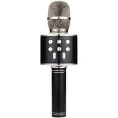 QTX  Karaoke Party mikrofon BT/MP3/FM, černý