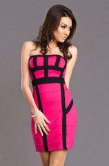 Stylomat Růžové upnuté šaty