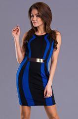 Stylomat Dámské pouzdrové šaty modročerné