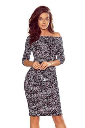 Numoco Dámské šaty 13-107, černá, XL