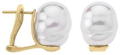 Majorica Aranyozott ezüst fülbevalók barokk gyöngyvel 08617.01.1.907.701.1 ezüst 925/1000