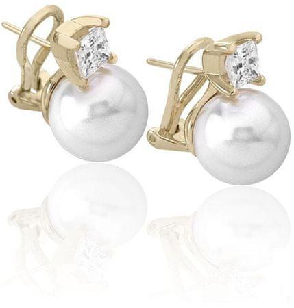 Majorica Ezüst fülbevalók gyöngy és kővel 15311.01.1.000.010.1 ezüst 925/1000
