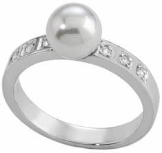 Majorica Srebrni prstan z bisernim in kamenjem 12563.01.2.913.010.1 srebro 925/1000