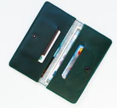 Voyage Kožená peněženka na iPhone Xs, Xr, Xs Max // ENTRY (Green)