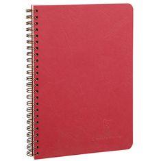Clairefontaine zvezek s spiralo Age Bag A5, črtni, 50 listov, rdeč
