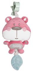 Canpol babies Pastel Friends plüss játék, rózsaszín medve