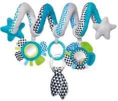 Canpol babies pluszowa spirala do wózka Zig Zag, niebieska