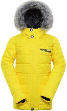 ALPINE PRO Icybo 3 otroška jakna, 164 - 170, rumena