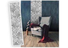 Dimex Samolepiace štukturované pásy - Mozaika čiernobiela, 60 x 260 cm