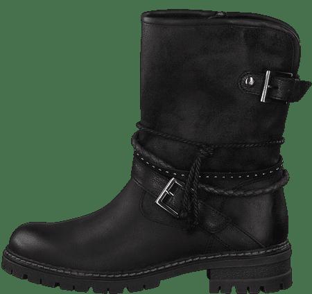 s.Oliver dámska členková obuv 25434 36 čierna