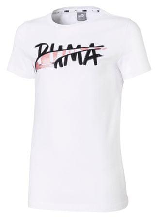 Puma dievčenské tričko Alpha Logo 176 biela