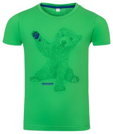 ALPINE PRO Ivaro 2 otroška majica, 104 - 110, zelena