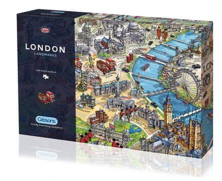 Gibsons Puzzle 1000 db London Landmarks