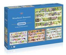 Gibsons Puzzle 500 dílků 4 Puzzles - Woodland Seasons