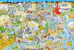 Gibsons Puzzle 500 dílků Jigsaw Puzzle - 500 dílků : London from Above