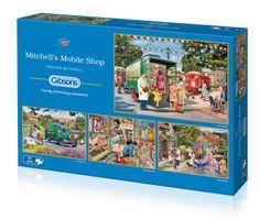 Gibsons Puzzle 500 dílků 4 Jigsaw Puzzles - Trevor Mitchell - Mitchell's Mobi