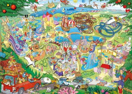 Heye Puzzle 1000 dielikov Anders Lyon - Fun Park Trip