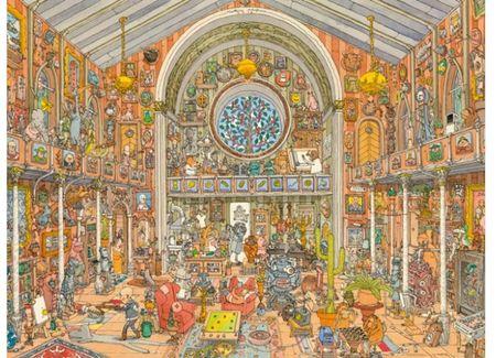 Heye Puzzle 1500 db Adolfsson: Curiosity Cabinet