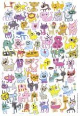 Heye Puzzle 150 dielikov Jon Burgerman: scribbled Cats