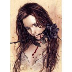 Heye Victoria Francés: Temná ruža 1000 dielikov
