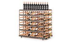 RAXI Prezentační stojan na víno s kapacitou 120 lahví