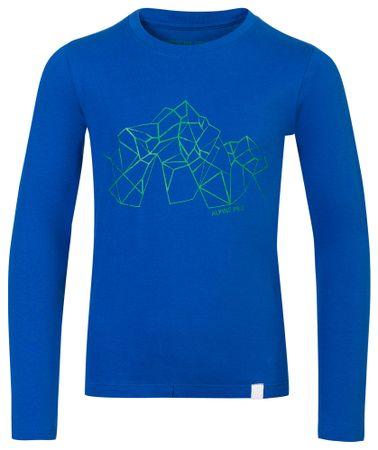 ALPINE PRO otroška majica Lemko, 104 - 110, modra