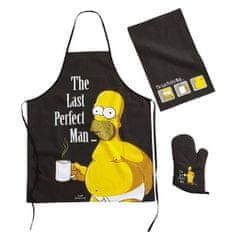The Simpsons Kuchyňský set Simpsons - Last Perfect Man, zástěra, utěrka, chňapka