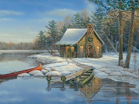 Cobble Hill Puzzle 275 dielikov XXL Pieces - Winter Cabin