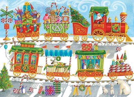 Cobble Hill Puzzle 350 db XXL db - Christmas Train