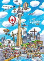 Cobble Hill DoodleTown: Toronto 1000 dielikov