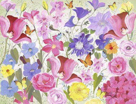Nathan Puzzle 2000 db Floral Spirit