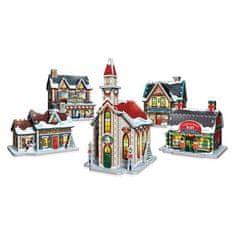 Wrebbit Puzzle 116 dílků 3D Puzzle - Christmas Village