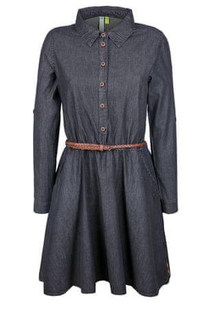 Alife and Kickin dámske šaty Hanna XL tmavo šedá
