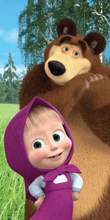 Jerry Fabrics Törölköző Mása és a medve 050
