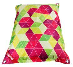 Beanbag Designový sedací vak 189x140 triangle s popruhy