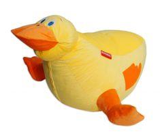 Beanbag Sedací vak kachna Daky, žlutá/oranžová