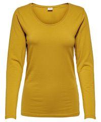 Jacqueline de Yong Női póló JDYAVA L / S TOP JRS NOOS Harvest Gold