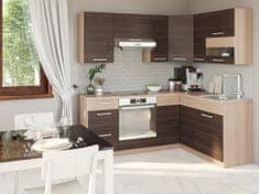 Rohová kuchyně RUTHIN 195x150, rijeka tmavá
