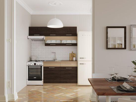 Kuchyně RUTHIN 120/180 cm, rijeka tmavá