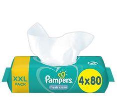 Pampers XXL Fresh Clean Nedves törlőkendő 4x80 db