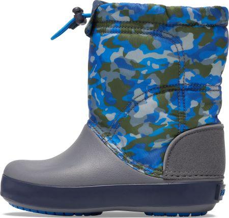Crocs chlapčenské snehule CB LodgePoint Graphic WntrBt K Army 27,5 šedá