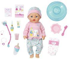 BABY born Soft Touch Holčička s doplňky na čištění zubů, 43 cm