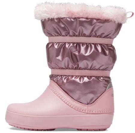 Crocs CB LodgePoint Metallic Boot lány hótaposó 37,5 rózsaszín
