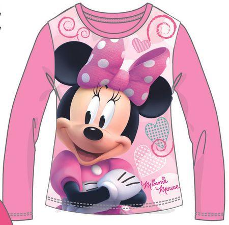 Disney by Arnetta dievčenské tričko Minnie 122 svetloružová