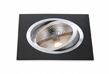 BPM BPM Vestavné svítidlo Aluminio Negro, černá, 9LEDx3W, 230V 4902 3072LED.D40.3K