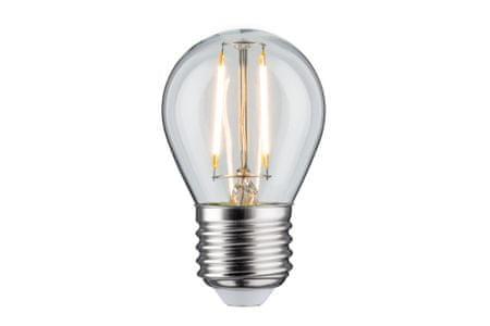 Paulmann Paulmann LED kapka P45 2,5W E27 čirá 230V teplá bílá 283.85 P 28385 28385